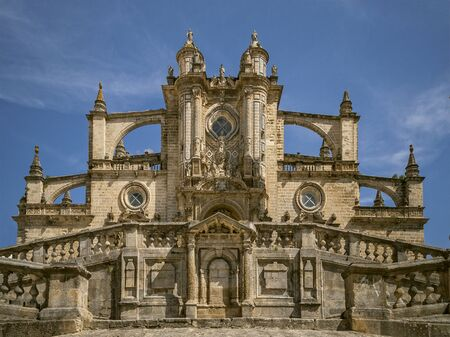 jerez de la frontera: The portal of the cathedral in Jerez de la Frontera Stock Photo