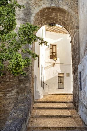 spanish village: Archway in a Spanish village