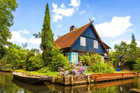 Een mooi huis in Spreewald in Duitsland Stockfoto