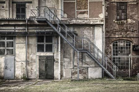 escape: Fire escape at an old factory