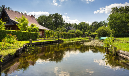 Landscape in the Spreewald Stock Photo