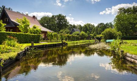 seerosen: Landscape in the Spreewald Stock Photo