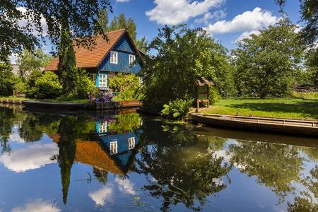 Haus im Spreewald in Duitsland Stockfoto