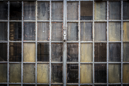 anno: Window of an old factory Stock Photo