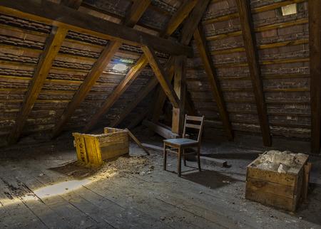 Dak in een oude villa