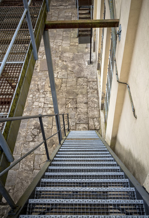 gratings: Fire stairs Stock Photo