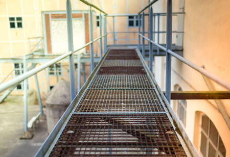 gratings: Fire stairs in an old factory