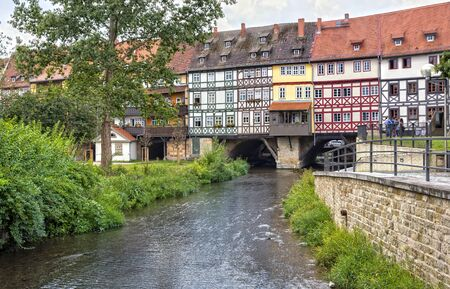 dwelling: Dwelling on the Kraemerbruecke in Erfurt