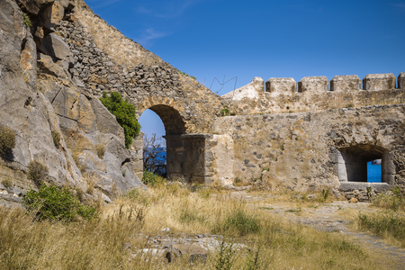 greece granite: an ancient fortress in Crete