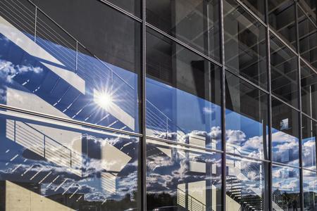 lobe: Glass front on Paul Lobe Haus in Berlin Stock Photo