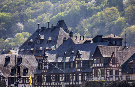 strive: Half-timbered houses in a small town on the Rhine