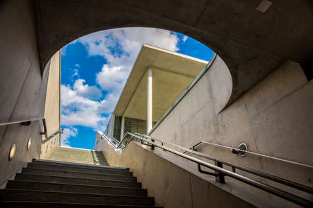 subway entrance: The subway entrance at the chancellery in Berlin