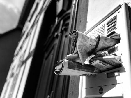 misbehavior: nobody home Stock Photo