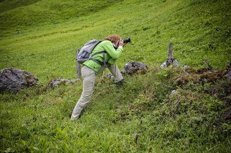 een fotograaf op het werk