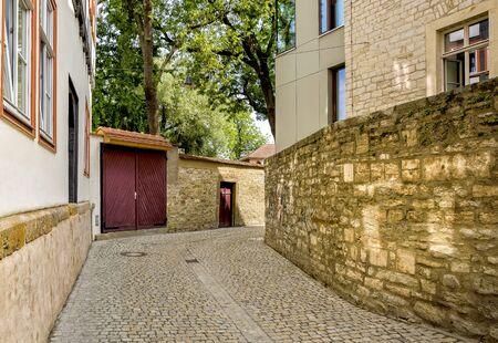erfurt: Street in Erfurt Stock Photo
