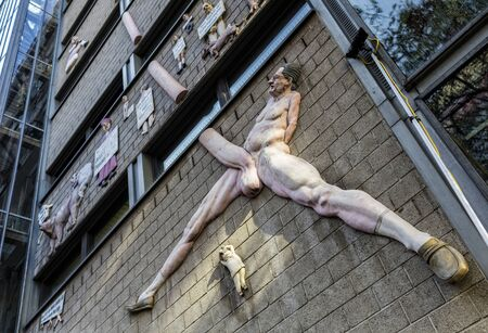 lascivious: Representation of the building of the Berlin daily newspaper