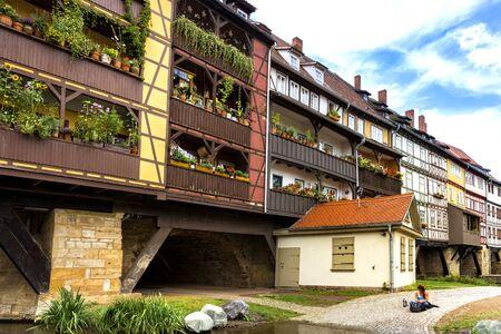 erfurt: The Krmerbrcke in Erfurt