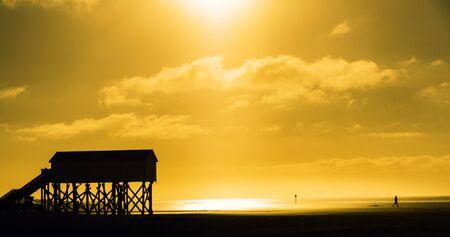 stilt house: on the North Sea beach