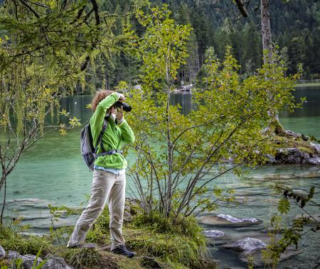 berchtesgaden: a hiker in Berchtesgaden Stock Photo