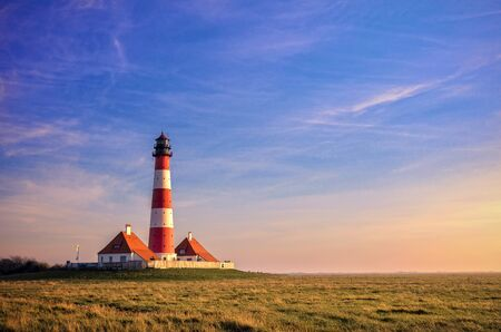 westerheversand lighthouse: Lighthouse Westerhever