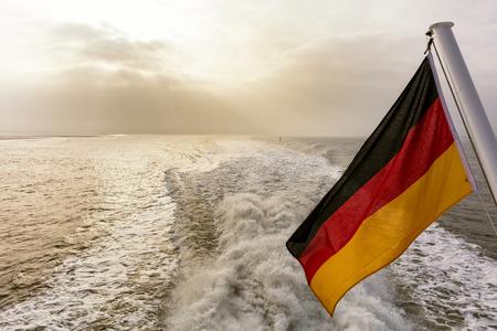 wistfulness: The German flag Stock Photo