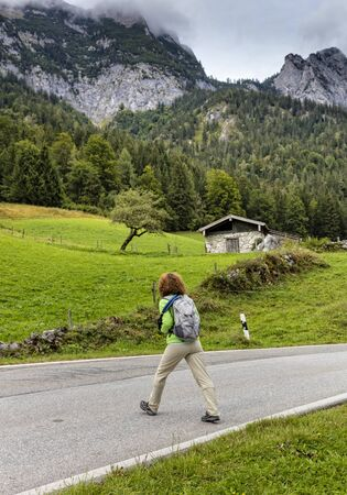 berchtesgaden: Trail at Eagles Nest in Berchtesgaden Stock Photo