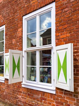fachwerk: window Stock Photo