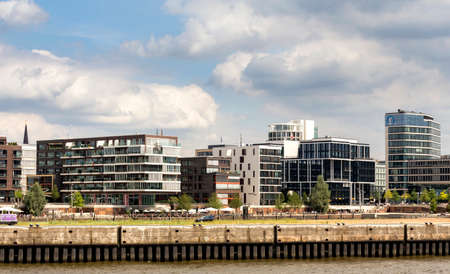 housebuilding: View of Hamburg Editorial