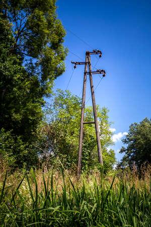 kilowatt: Electricity pylon in nature