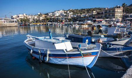 roped: small fishing boats in Crete