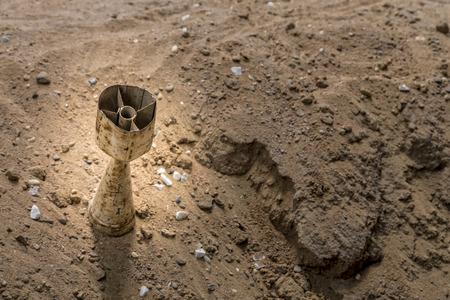 sandy soil: grenade in sand