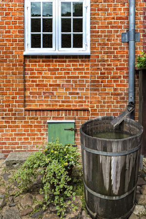 tonne: Rain barrel in the garden