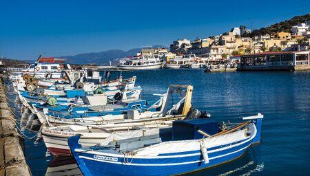 small fishing boats in Crete