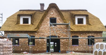 brick house: construction of a house
