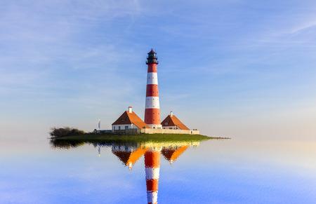 the lighthouse of westerhever Reklamní fotografie