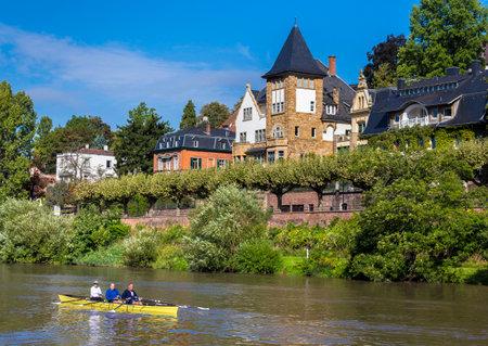 Villa am Neckar in Heidelberg Editorial