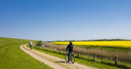 feld: Cyclists on vacation
