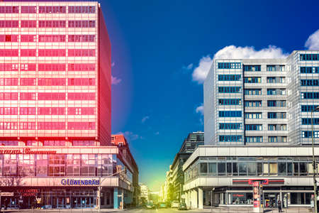 orte: High-rises in the Leipziger Strasse in Berlin Editorial