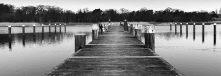 boat dock: a boat dock on the lake