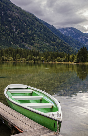 Rowboat on Hintersee in Berlin