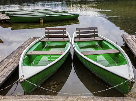 rowboats: Rowboats on Hintersee in Bavaria