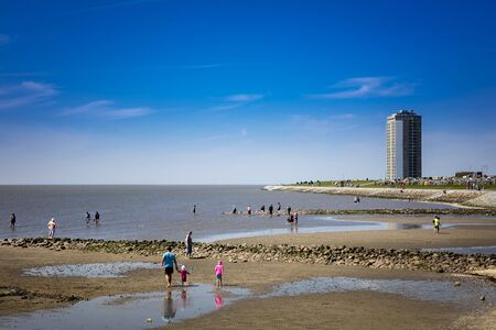 eyesore: in the Wadden Sea on the North Sea
