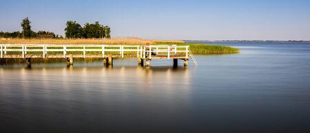 reisen: a footbridge in badesee