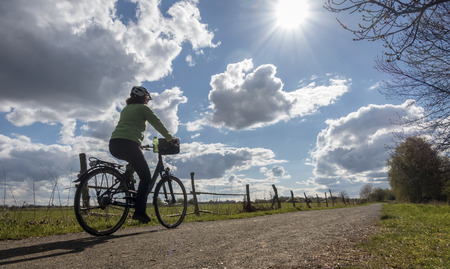 Cyclist in the nature