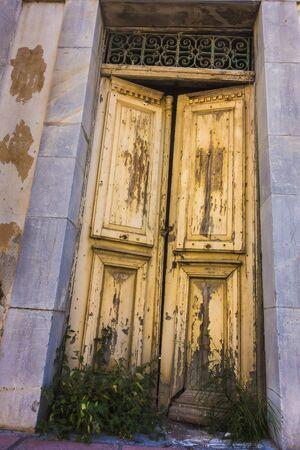 expire: old wooden doors Stock Photo