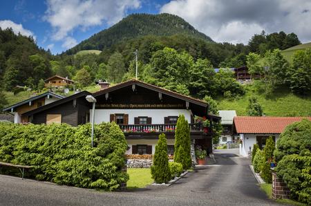 Ein Ferienhaus in Bayern Standard-Bild
