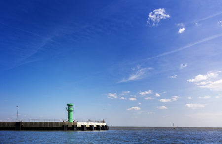 starboard: a lighthouse in the port of Buesum