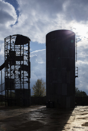 firma: Silo in backlight Stock Photo