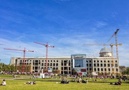 the site of the new city palace in Berlin