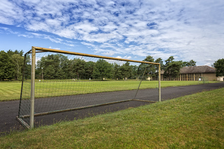 old gate on a soccer field